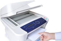 Copieur et fax de laser. image libre de droits