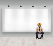 Copiez l'espace avec le clown Photo libre de droits