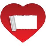 copiez l'espace de coeur Photographie stock libre de droits