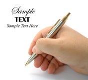 copiez l'espace de crayon lecteur de main Images stock