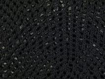 Copiez l'espace sur le tissu noir Photographie stock libre de droits