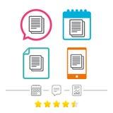 Copiez l'icône de signe de dossier Cote du document en double Image libre de droits