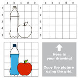 Copiez l'image utilisant la grille illustration libre de droits