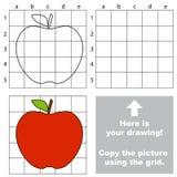 Copiez l'image utilisant la grille Apple illustration libre de droits