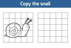 Copiez la photo (l'escargot) Photos libres de droits