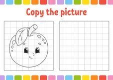 Copiez la photo Pages de livre de coloriage pour des enfants Fiche de travail se d?veloppante d'?ducation Jeu pour des enfants Pr illustration libre de droits