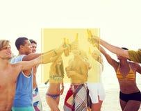 Copiez le concept de vacances de vacances d'été de cadre de l'espace images libres de droits
