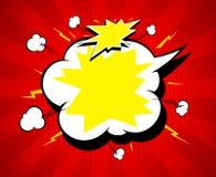 Copiez le fond de bulle de la parole de l'espace, électrique et explosif, lumineux avec des rayons illustration de vecteur