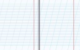 Copiez les feuilles de livre avec la texture rayée illustration stock