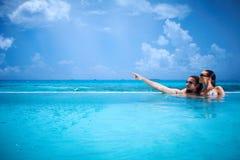 Copile chez les Maldives Image stock
