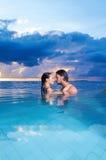 Copile chez les Maldives Photos stock