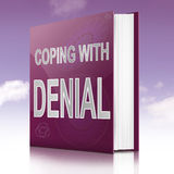Coping with denial. Royalty Free Stock Photography