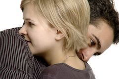 Cople hugging Royalty Free Stock Images