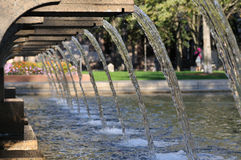 Copley方形喷泉 图库摄影