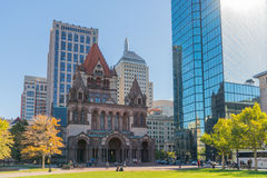 Copley fyrkant - Boston arkivbilder