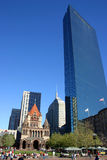 Copley Quadrat, Boston stockbild