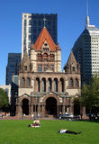 Copley Square, Boston. Copley Square is one of the most sophisticated areas of the city with fashion shops, gourmet restaurants, art galleries and the Boston Stock Images