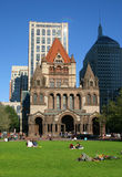 Copley Square, Boston. Copley Square is one of the most sophisticated areas of the city with fashion shops, gourmet restaurants, art galleries and the Boston Royalty Free Stock Photo