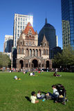 Copley Square, Boston. Copley Square is one of the most sophisticated areas of the city with fashion shops, gourmet restaurants, art galleries and the Boston Royalty Free Stock Photography