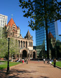 Copley Square, Boston. Copley Square is one of the most sophisticated areas of the city with fashion shops, gourmet restaurants, art galleries and the Boston Royalty Free Stock Images