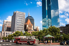 Copley Square in Boston Royalty Free Stock Photos