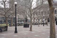 Copley square in boston massachusetts. Copley Square is one of the most sophisticated areas of the city Stock Image