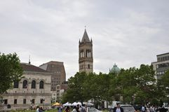 Boston Ma, 30th June: Copley Square and Buildings around in Downtown Boston in Massachusettes State of USA. Copley Square and and Buildings around in Downtown Stock Photography