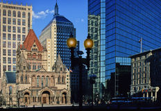 Copley Square center, Boston, Massachusetts, USA Royalty Free Stock Image