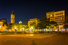 Copley Square at night, in Boston, Massachusetts. Royalty Free Stock Photo