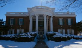 Copley-Villa im Schnee Stockfoto