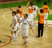 Copo 2008-2009 do UEFA Futsal Fotografia de Stock Royalty Free