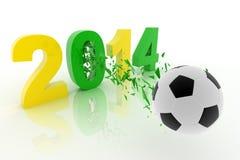 Copo 2014 de mundo Imagens de Stock Royalty Free