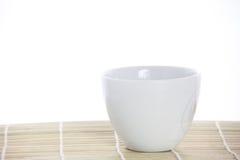Copo branco com café imagem de stock