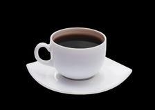 Copo branco isolado no fundo preto Imagem de Stock Royalty Free