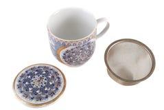 Copo branco para o chá Foto de Stock