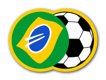 Copo Brasil do ícone Fotografia de Stock Royalty Free