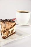 Copo com café perfumado da manhã em um fundo branco Imagem de Stock Royalty Free