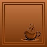 Copo com café quente Hora para o café Conceito Imagens de Stock