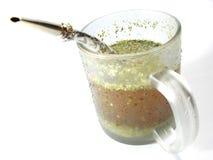 Copo com chá do companheiro   Fotografia de Stock Royalty Free