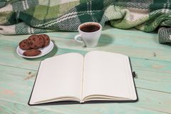 Copo com chá ou café quente Foto de Stock Royalty Free