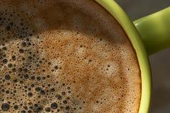 Copo com close up do kofem Fotografia de Stock