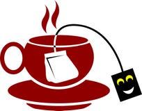 Copo com saco de chá Foto de Stock Royalty Free