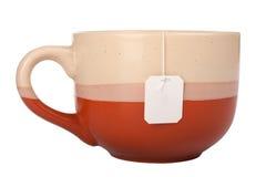 Copo com saco de chá imagens de stock