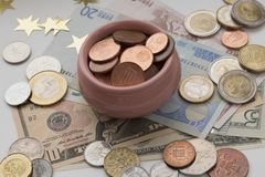 Copo da abundância, do símbolo da riqueza e da abundância foto de stock royalty free