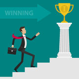 Copo da escada da carreira do homem de negócios do conceito Fotografia de Stock Royalty Free