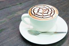 Copo da espuma do leite do café Fotografia de Stock