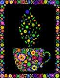 Copo da flor do chá ilustração royalty free