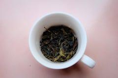 Copo da folha de chá Fotos de Stock