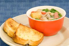 Copo da sopa de feijão Fotografia de Stock