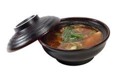 Copo da sopa de Miso Foto de Stock